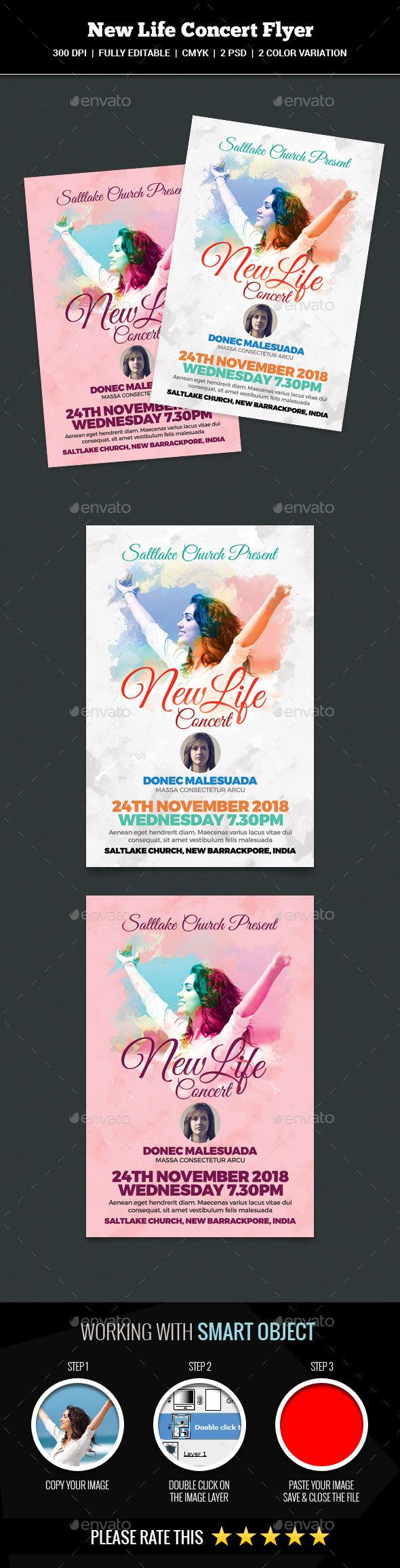 New Life Concert Flyer - Church Flyers