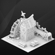 Fantasy game house. Paper fabric. - 3DOcean Item for Sale