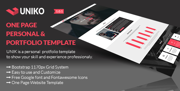 UNIKO – Personal and Portfolio PSD Template