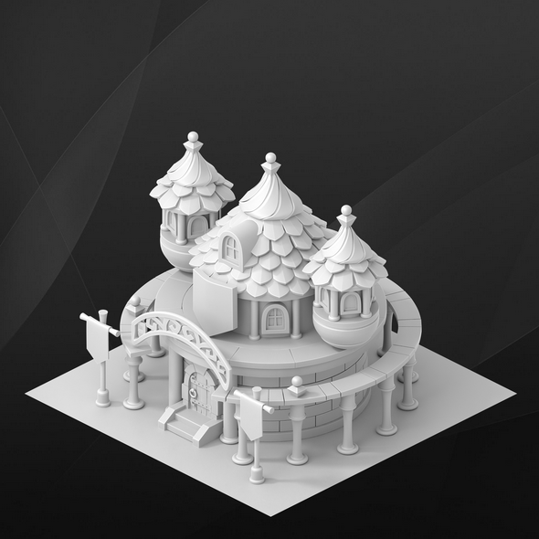 Fantasy game house. University. - 3DOcean Item for Sale