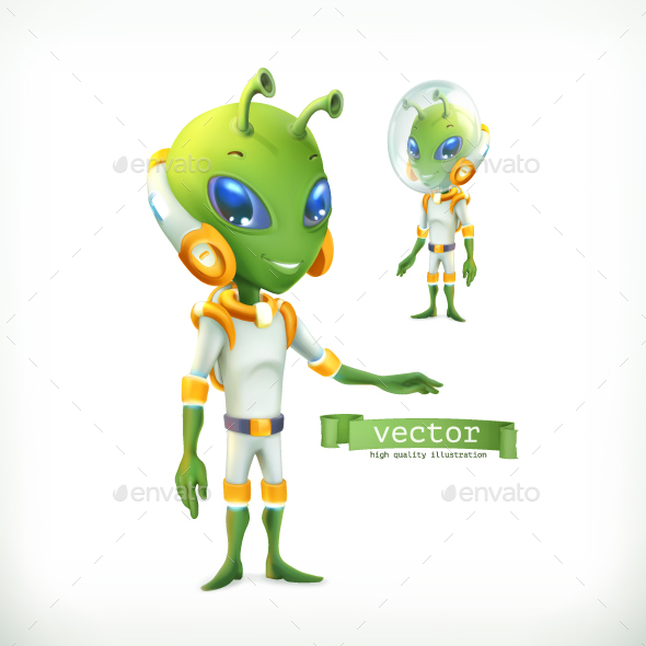 Alien in Spacesuit - Miscellaneous Characters