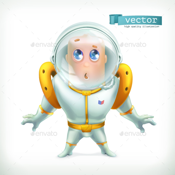 Astronaut in Spacesuit - People Characters