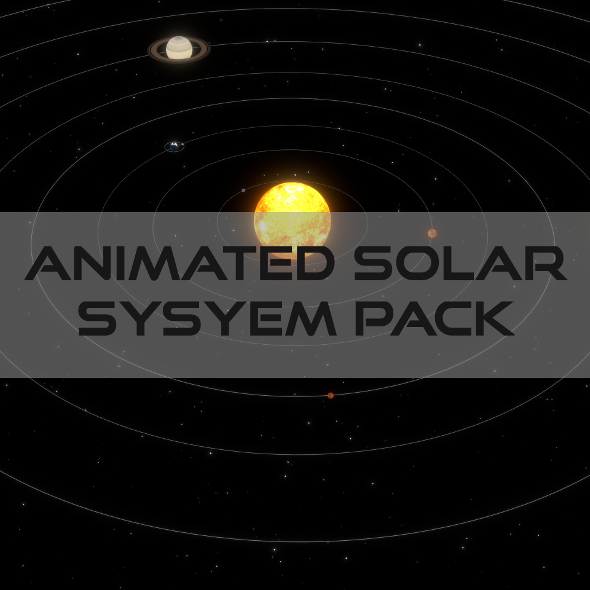 Animated Solar System Pack - 3DOcean Item for Sale
