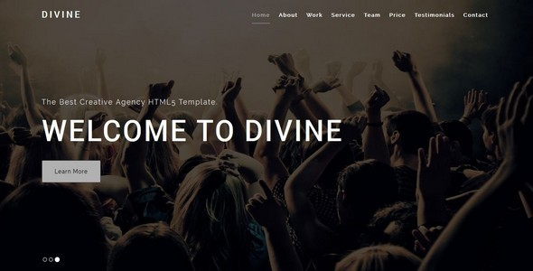 Exceptional DIVINE-Creative HTML5 Template