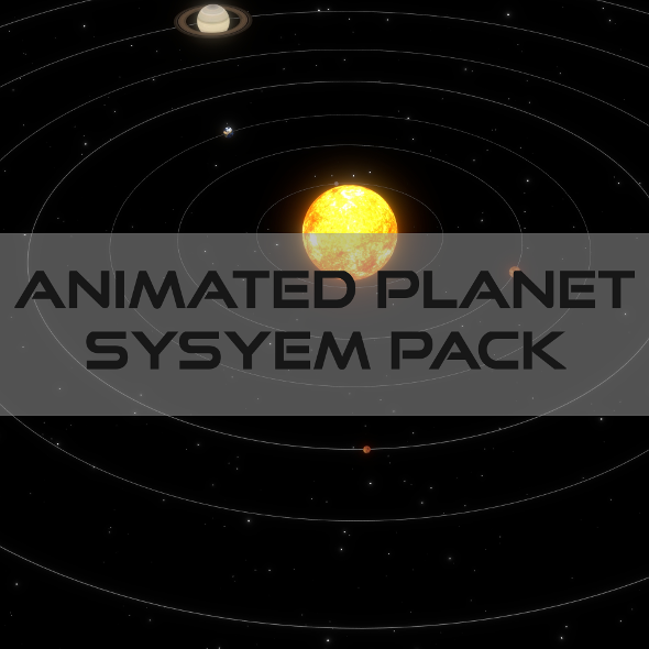 Animated Planet Pack - 3DOcean Item for Sale