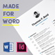 Clean Resume Made for Word - GraphicRiver Item for Sale