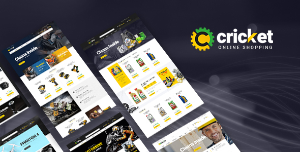 Lexus Cricket - Advanced Opencart Theme for Equipment Mechanic Shop - OpenCart eCommerce