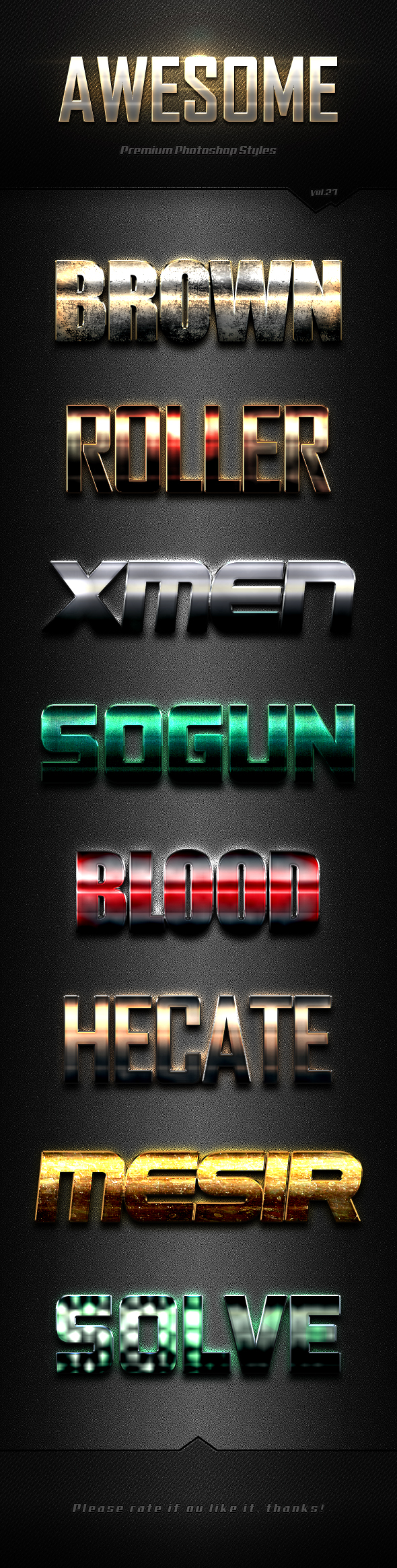 Photoshop Text Effects Vol.27 - Text Effects Styles