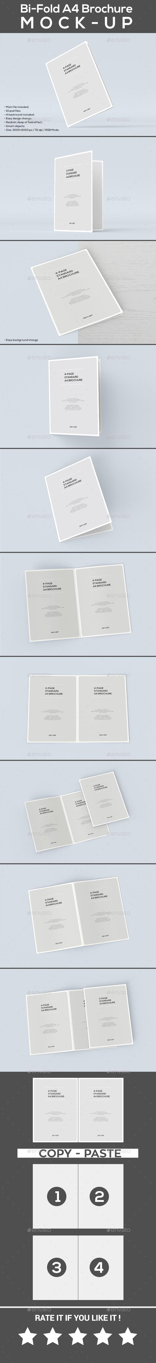 Bi-Fold A4 Brochure MOCK-UP - Brochures Print
