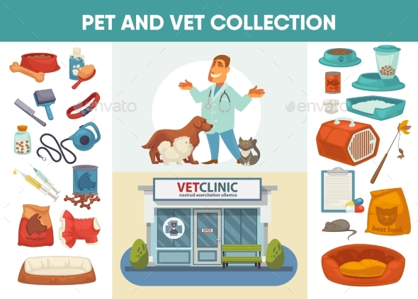 Veterinary Medicine Hospital, Clinic or Pet Shop - Buildings Objects