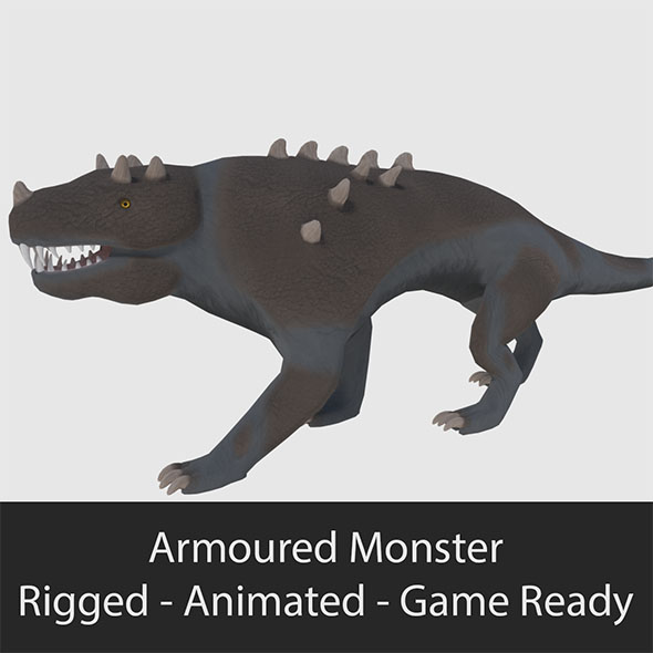 Armoured Monster - Game Ready - 3DOcean Item for Sale