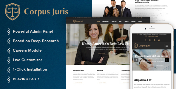Corpus Juris – Law Firm and Consultation WordPress Theme