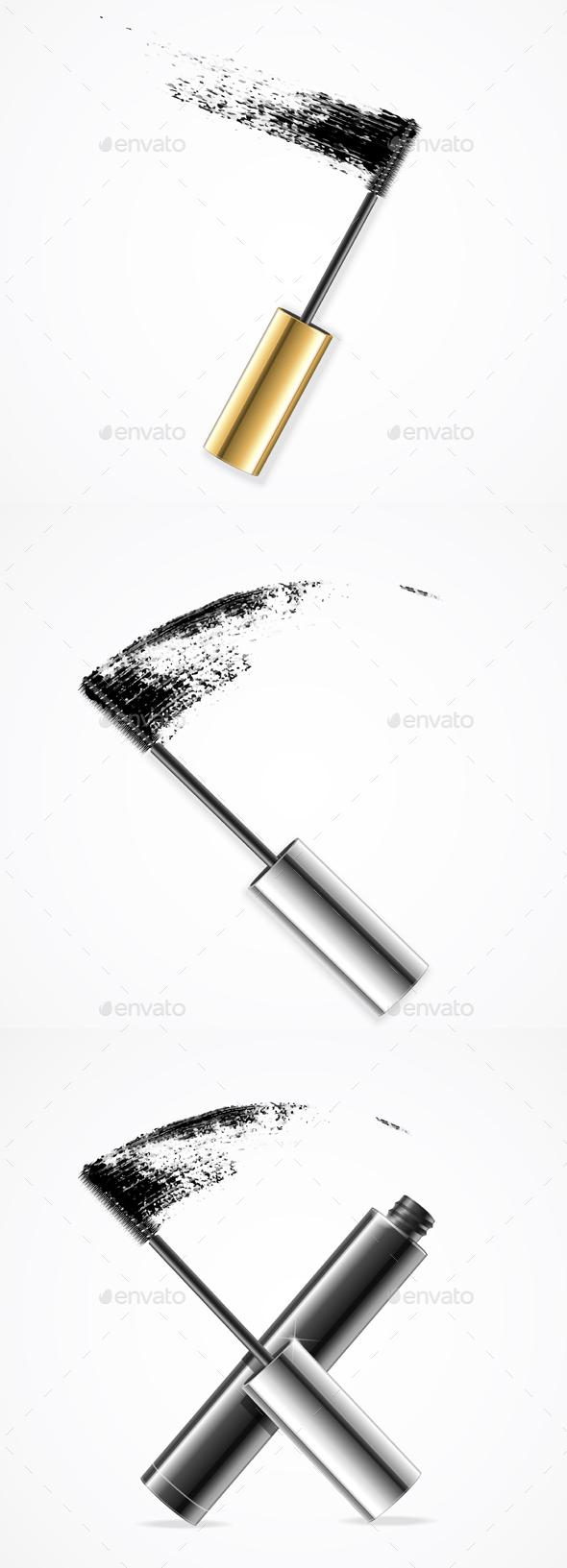 Realistic Mascara Brush Strokes - Man-made Objects Objects