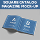 Square Catalog & Magazine Mock-Up - GraphicRiver Item for Sale
