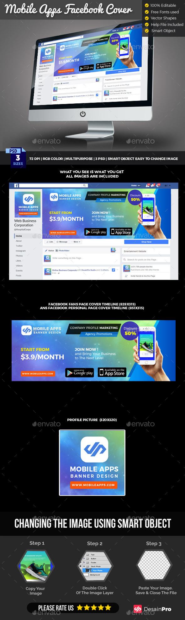 Mobile App Facebook Cover Timeline - Facebook Timeline Covers Social Media