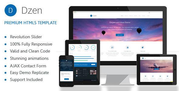 Dzen - Multipurpose Business HTML5 Template - Corporate Site Templates