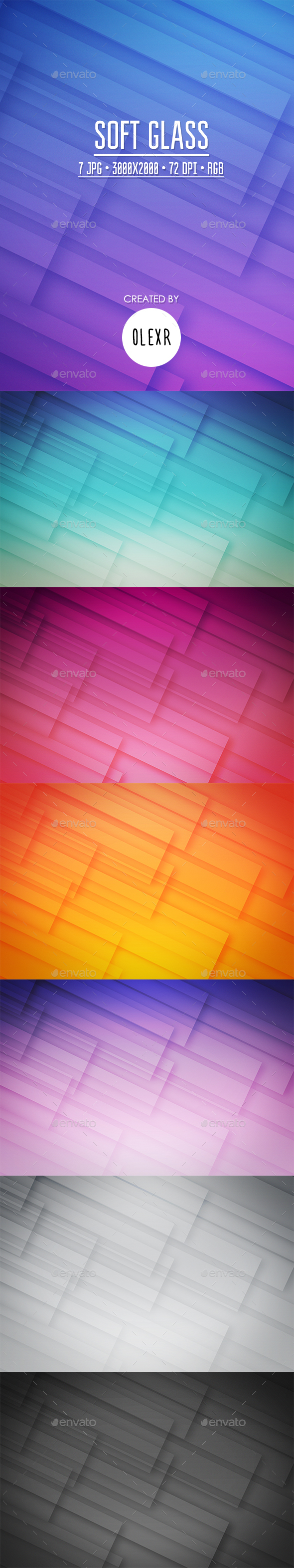 Soft Glass Backgrounds - Abstract Backgrounds
