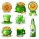 Set of St. Patrick Day Green Icons - GraphicRiver Item for Sale