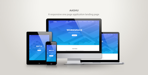 Aashu – A responsive onepage application landing page