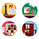 Board Games Set of Icons - GraphicRiver Item for Sale