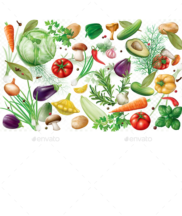 Vegetables Background - Food Objects