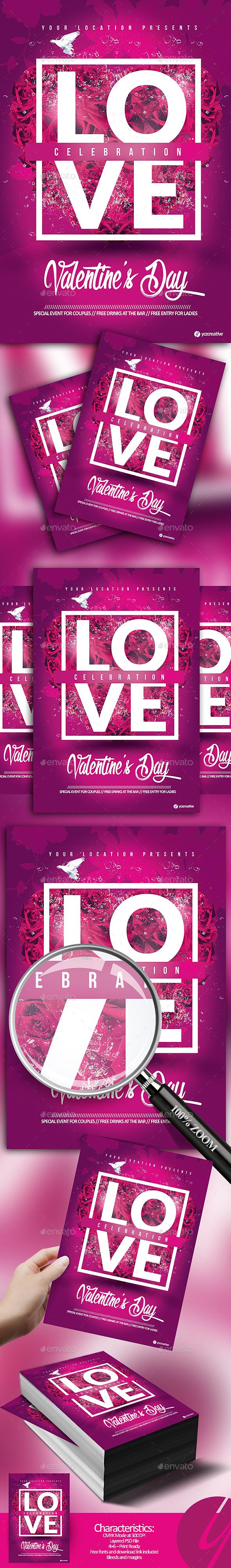 Love Celebration - Events Flyers