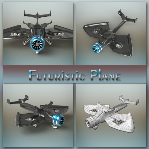 Futuristic Plane - 3DOcean Item for Sale