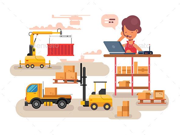 Warehouse Logistics Concept Design - Miscellaneous Conceptual
