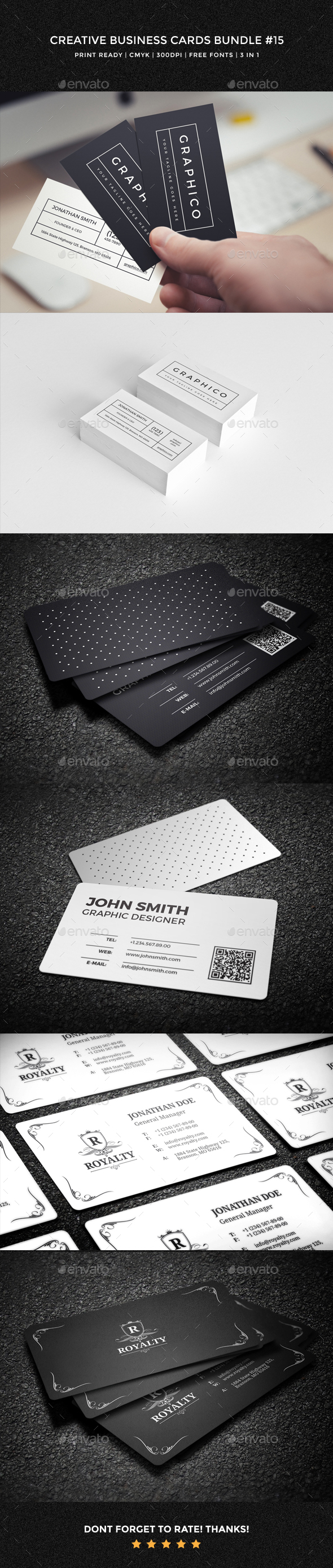 Creative business cards bundle 15 by nazdrag graphicriver creative business cards bundle 15 creative business cards reheart Images