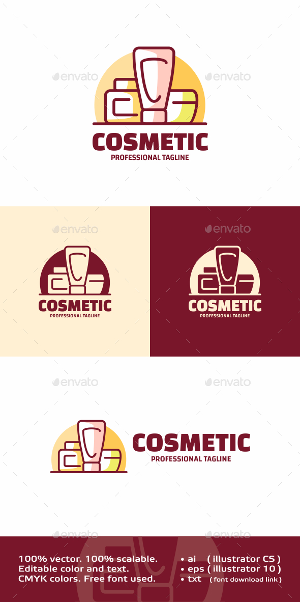 Cosmetic - Objects Logo Templates