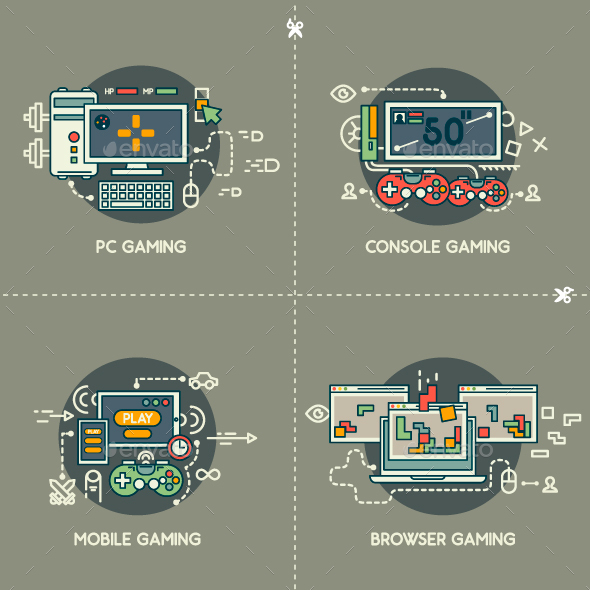 PC Gaming, Console Gaming, Mobile Gaming, Browser Gaming - Computers Technology