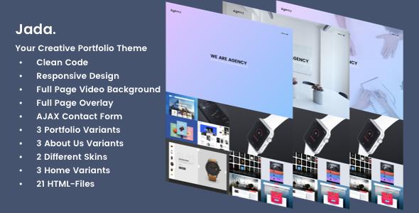 Jada – Creative Portfolio Template