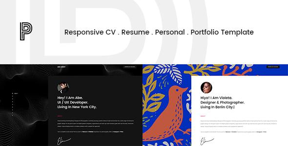 Penelope – Responsive CV / Resume / Personal / Portfolio Template