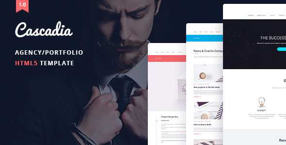 Cascadia – Agency/Personal Portfolio HTML5 Template