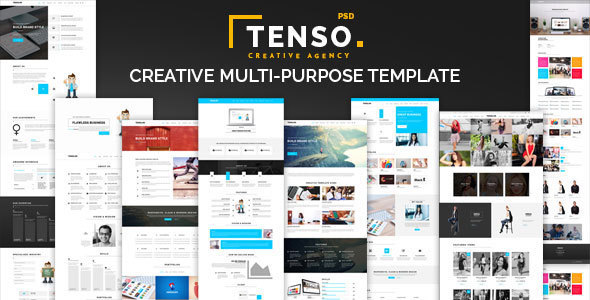 Tenso - Creative Multi-Purpose PSD Template - Portfolio Creative