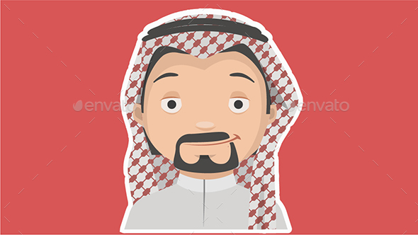 Saudi Character - People Characters