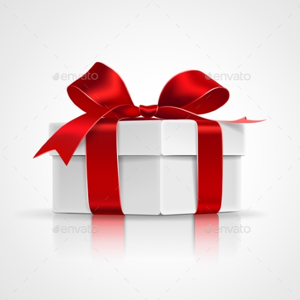Gift with Red Bow - Birthdays Seasons/Holidays