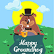 Happy Groundhog Day Illustration - GraphicRiver Item for Sale