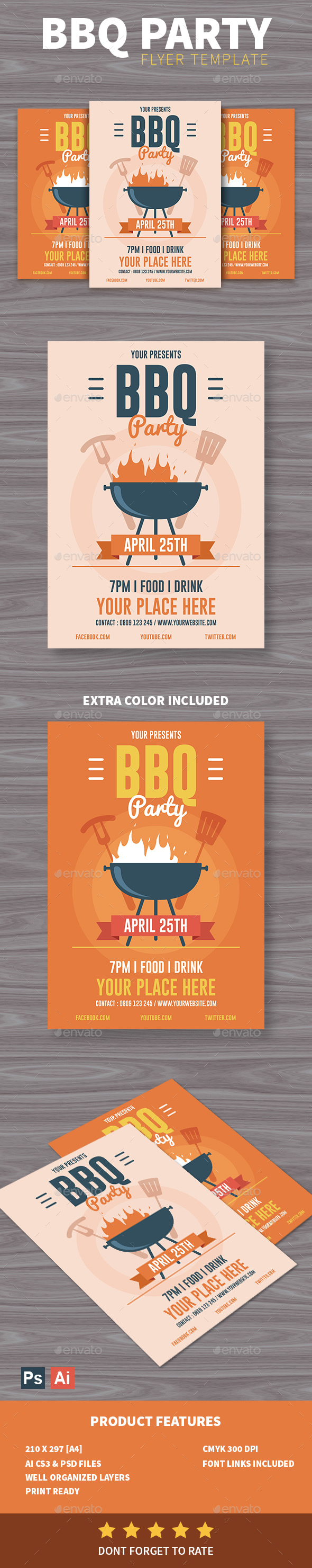 BBQ Party Flyer - Clubs & Parties Events