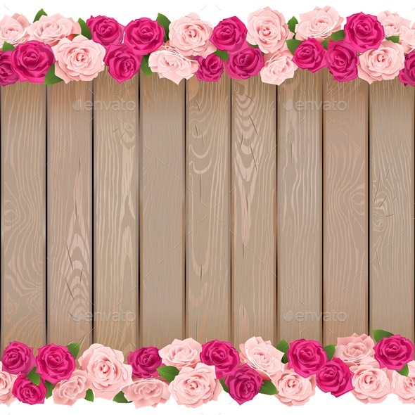 Vector Seamless Flower Frame - Backgrounds Decorative