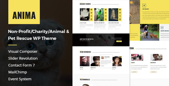Anima – Pet Rescue and Shelter WordPress Theme for Non-Profit/Charity/Fundraising Organization