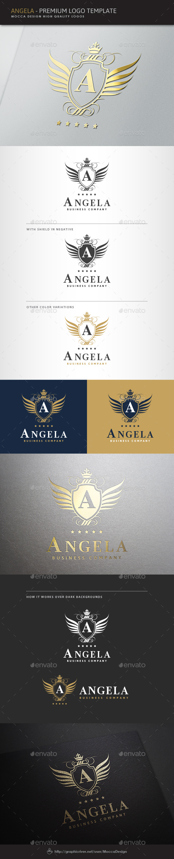 Angela Logo - Crests Logo Templates