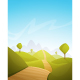 Countryside Cartoon Landscape - GraphicRiver Item for Sale