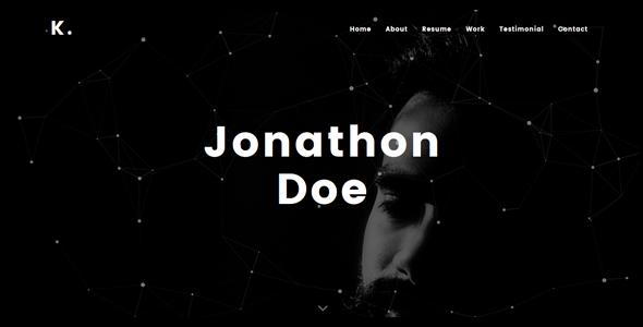 Kobra - Personal Portfolio Template - Personal Site Templates
