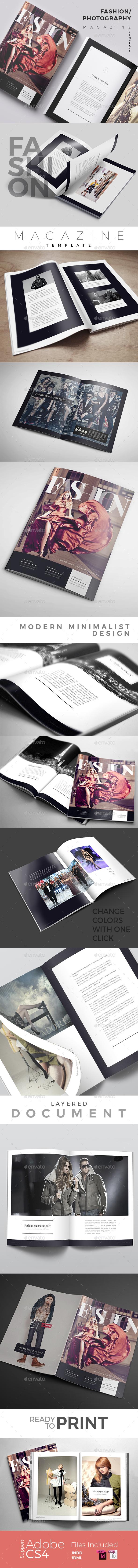 Fashion/Photography Magazine - Magazines Print Templates