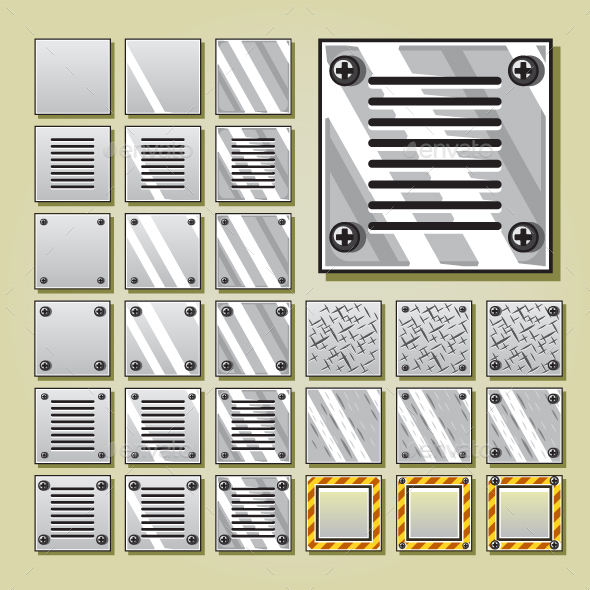 Iron Tiles for Video Games - Man-made Objects Objects
