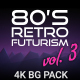 80s Retro Futurism Background Pack vol.3 4K - VideoHive Item for Sale