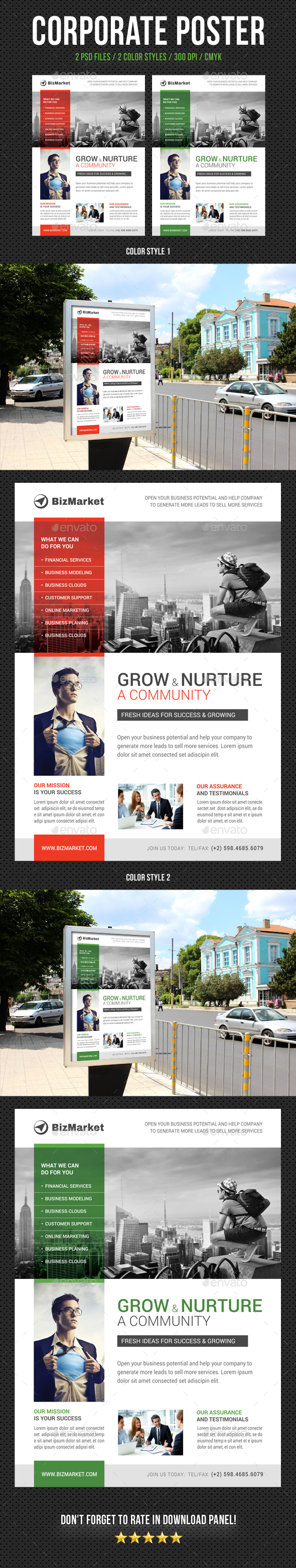 Corporate business poster template v14 by rapidgraf graphicriver corporate business poster template v14 signage print templates accmission Images
