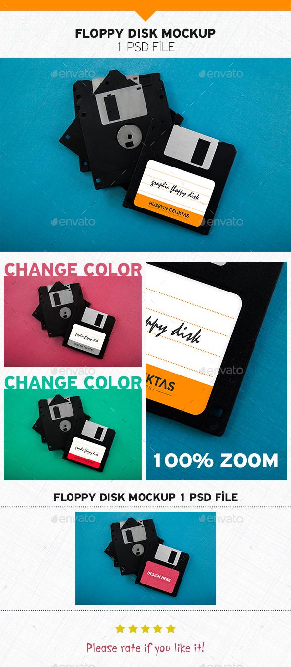 Floppy Disk Mockup - Product Mock-Ups Graphics