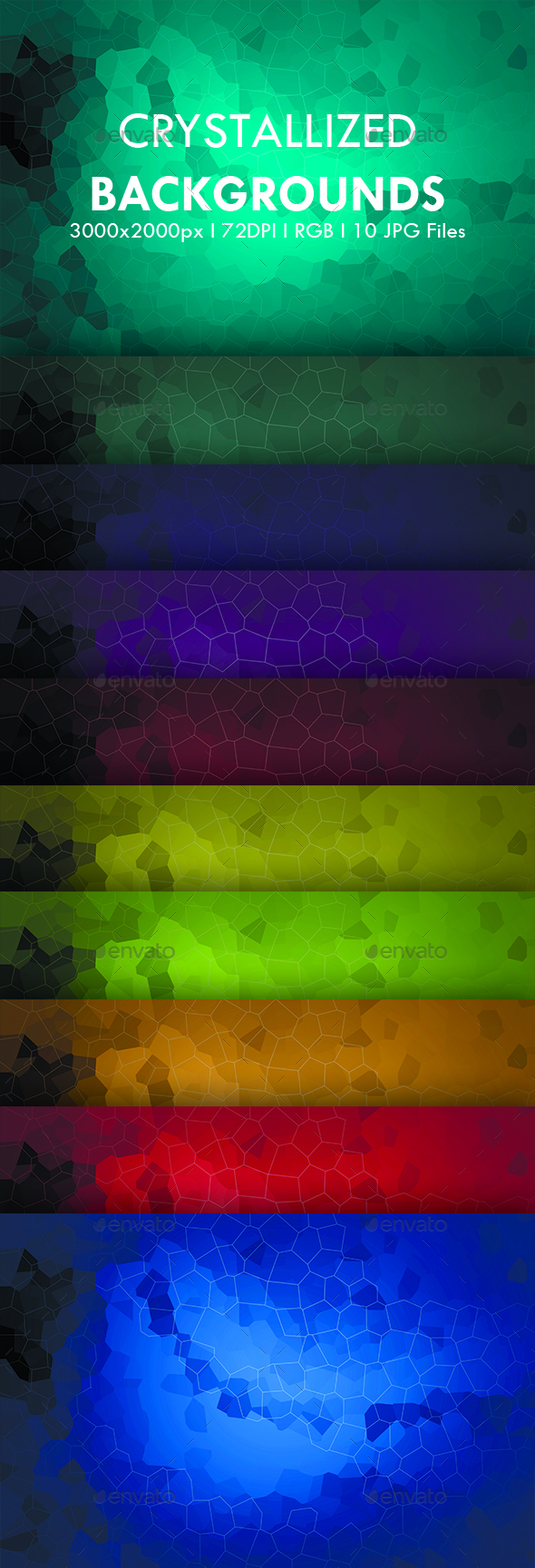 Crystallized Backgrounds - Abstract Backgrounds